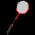 バドミントンのラケットのイラスト