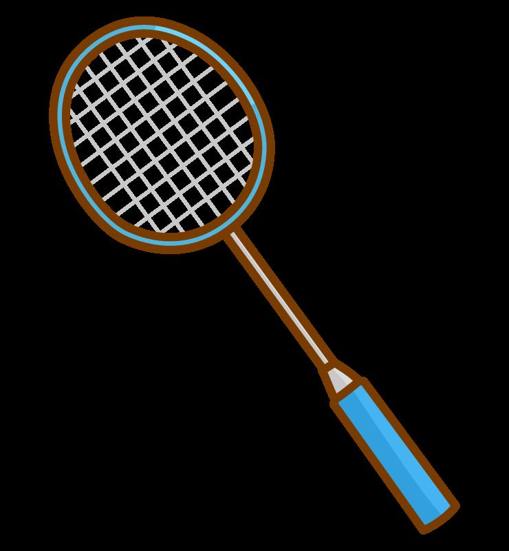 バドミントンのラケットのイラスト02