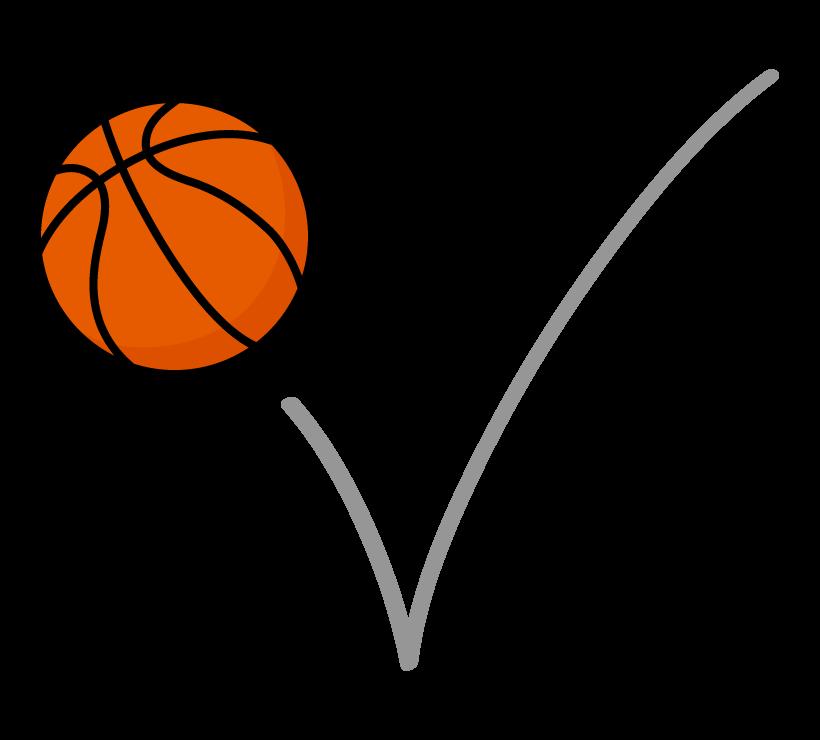 跳ねているバスケットボールのイラスト
