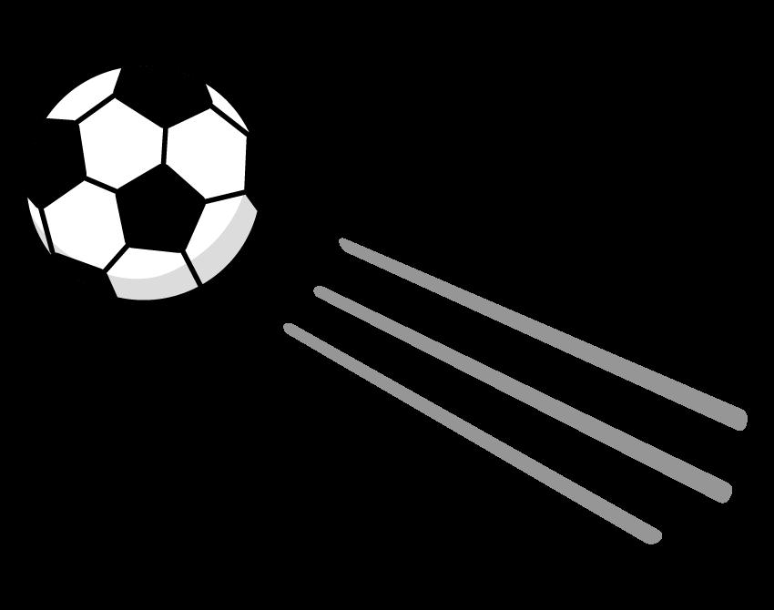 飛んでいるサッカーボールのイラスト