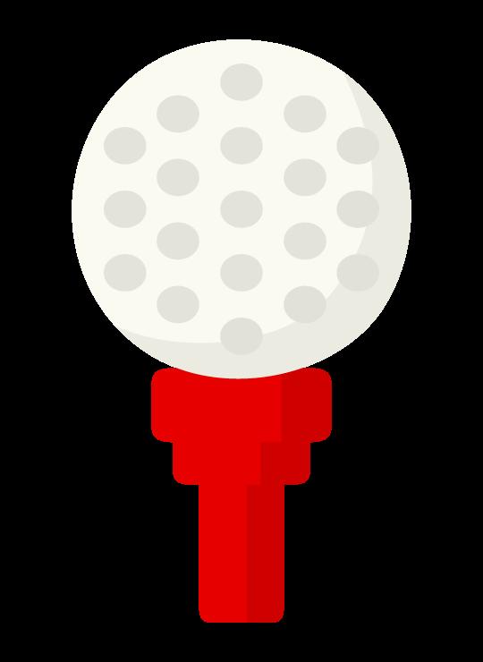 ゴルフボールとティーのイラスト