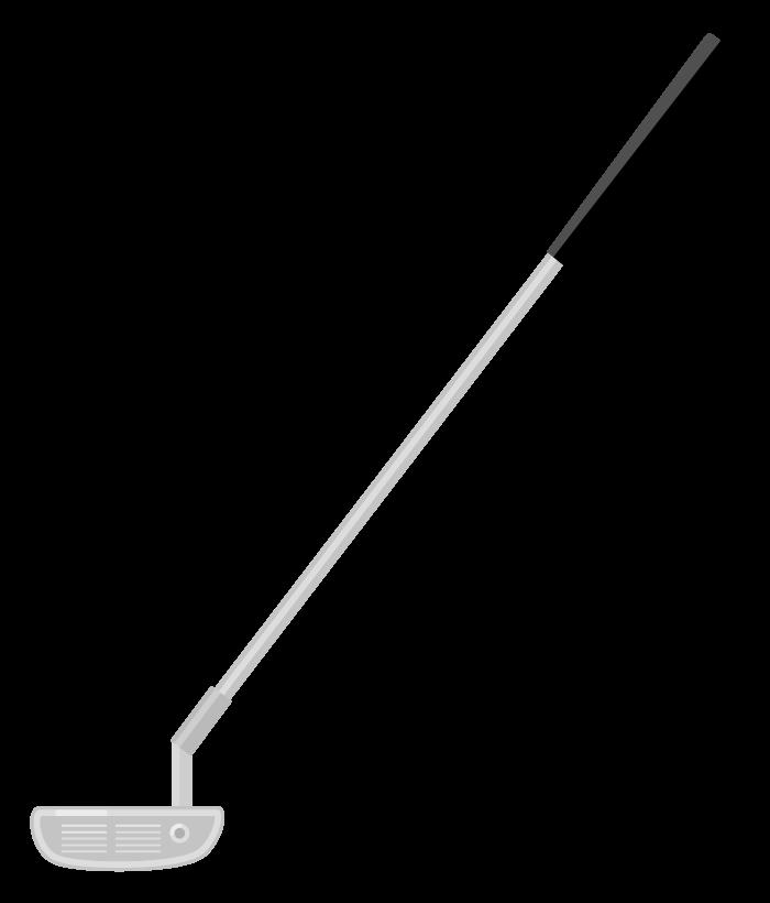 ゴルフのパターのイラスト