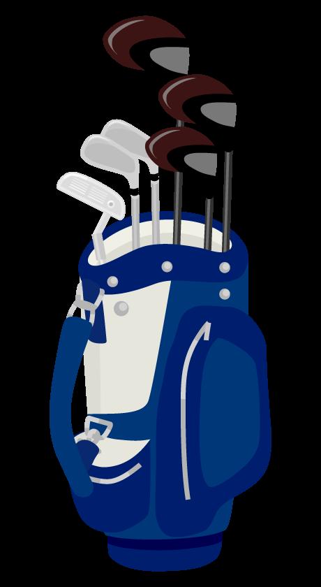 ゴルフクラブとバッグのイラスト