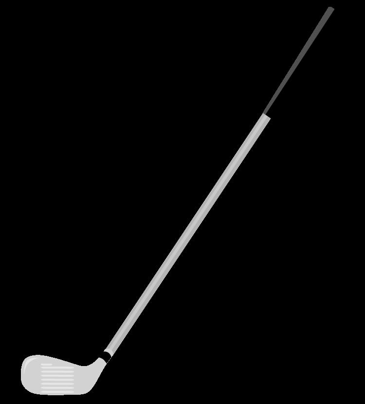 ゴルフのアイアンのイラスト