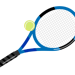 テニスボールとラケットのイラスト