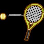 テニスラケットでボールを打っているイラスト
