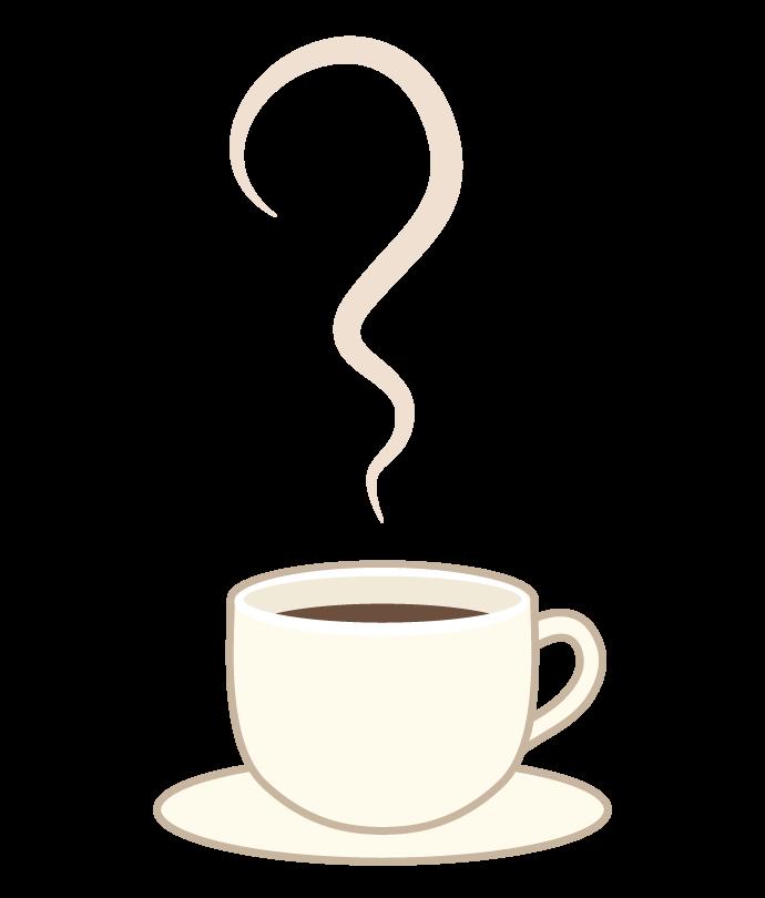 湯気とコーヒーのイラスト