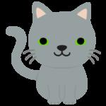 かわいいグレーの猫のイラスト