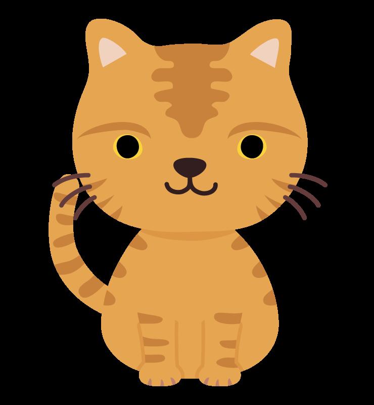 かわいいトラ猫のイラスト