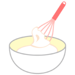 ホイップクリームのイラスト