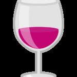 グラスワインのイラスト