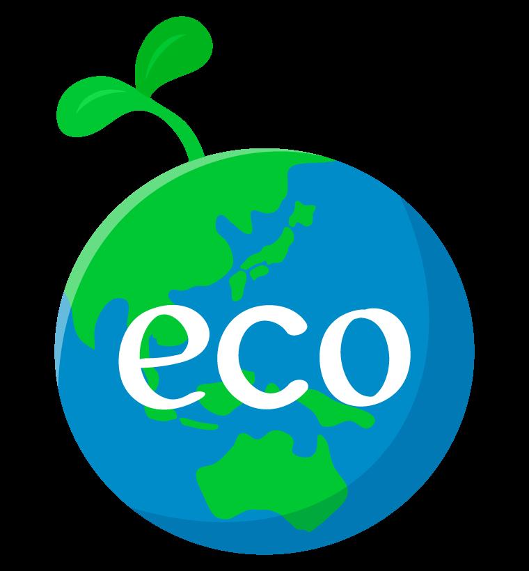 地球とエコのイラスト