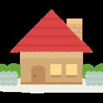 煙突付きのお家のイラスト