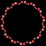 梅の花とつぼみの円形囲みフレーム飾り枠イラスト