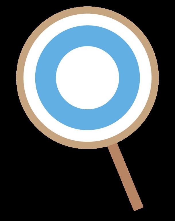 マルの札のイラスト