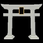 神社・石の鳥居のイラスト