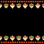 お正月・コマの上下フレーム飾り枠イラスト
