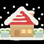 屋根に雪が積もっている家のイラスト
