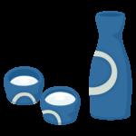 日本酒(徳利とお猪口)のイラスト