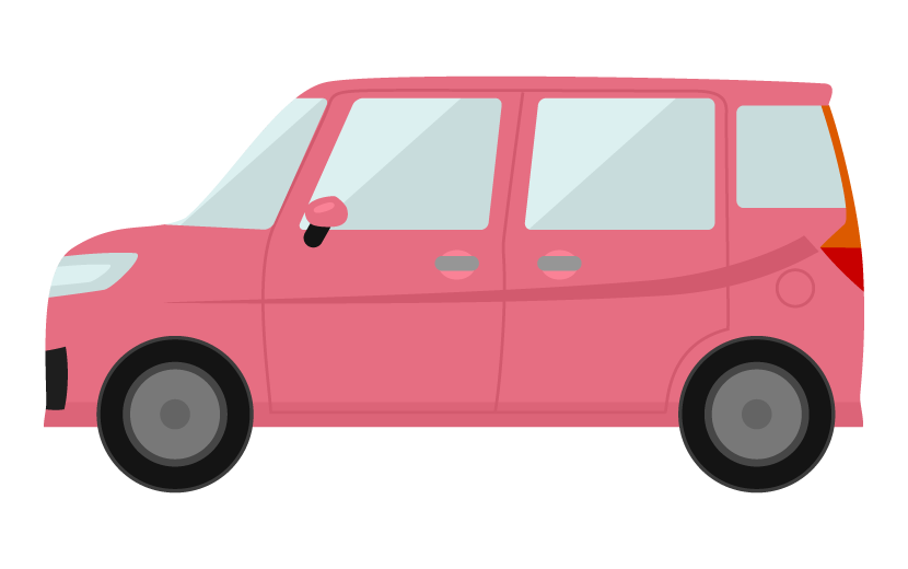 コンパクトカー(横アングル)のイラスト02
