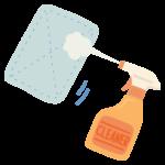 クリーナーと雑巾掃除のイラスト