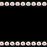 恵方巻・海苔巻きの上下フレーム飾り枠イラスト