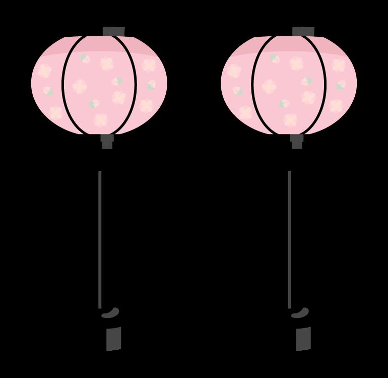 ひな祭り・ぼんぼりのイラスト02