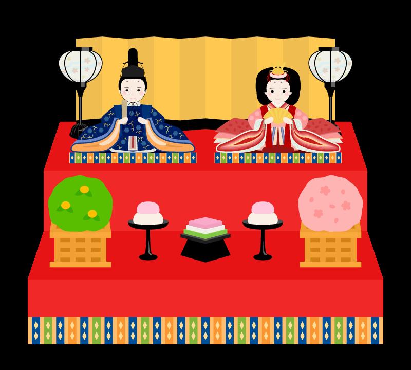 ひな祭り・ひな壇のイラスト