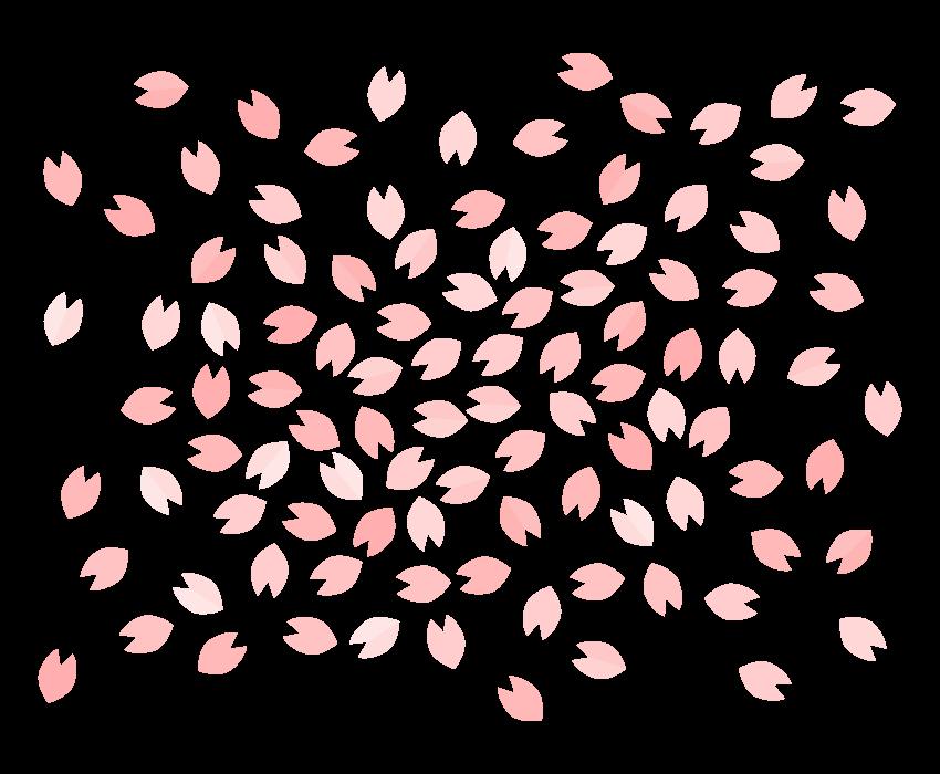 春・桜吹雪のイラスト