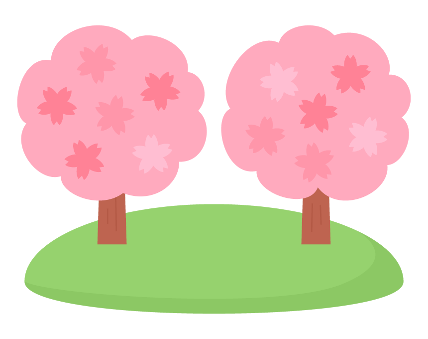春・桜の木のイラスト