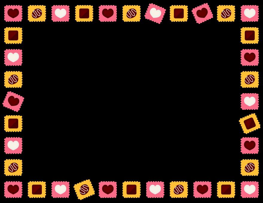 バレンタインチョコの囲みフレーム飾り枠イラスト