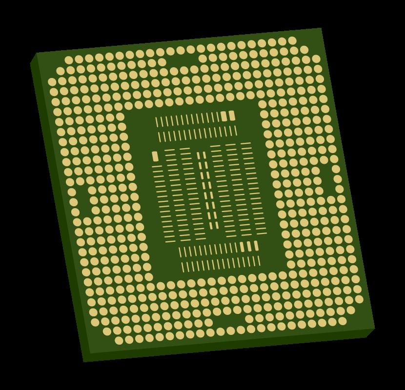 パソコンのCPUのイラスト