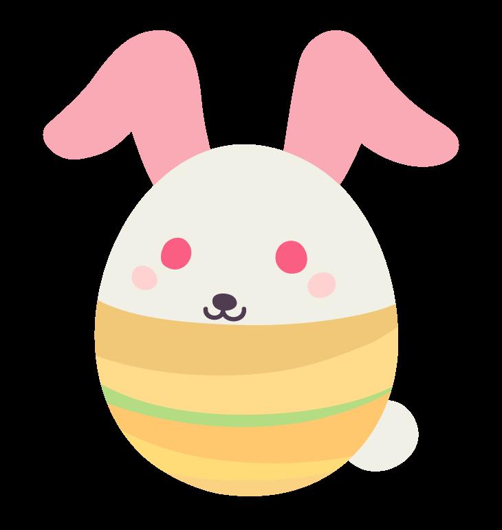 バニー(うさぎ)のイースターエッグのイラスト