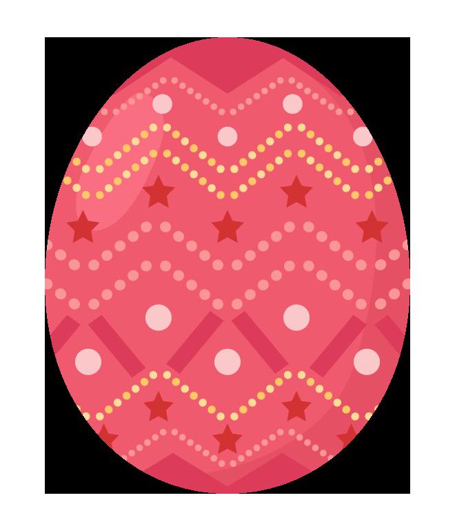 赤いイースターエッグのイラスト