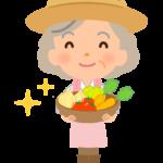 野菜農家(女性)さんのイラスト