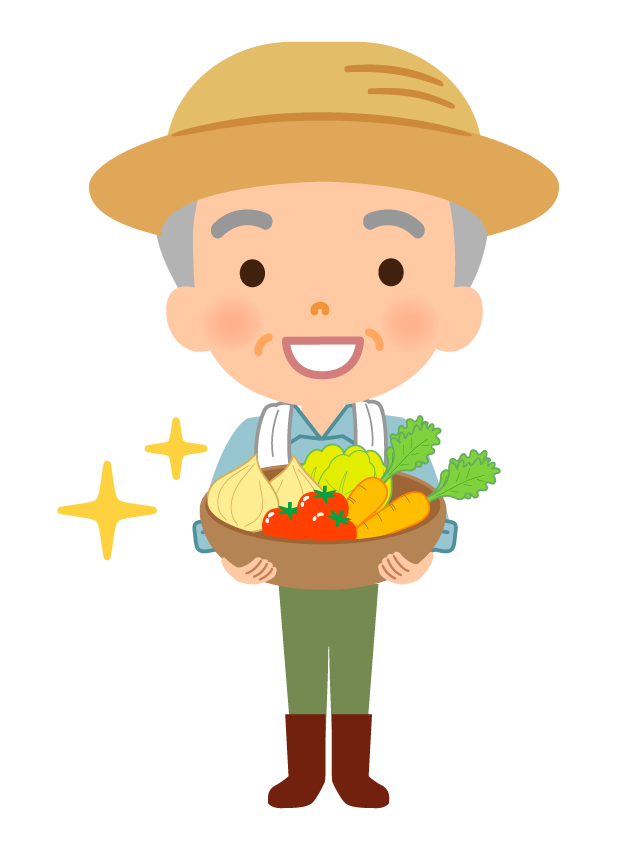 野菜農家さんのイラスト