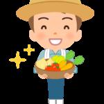 若い野菜農家さんのイラスト