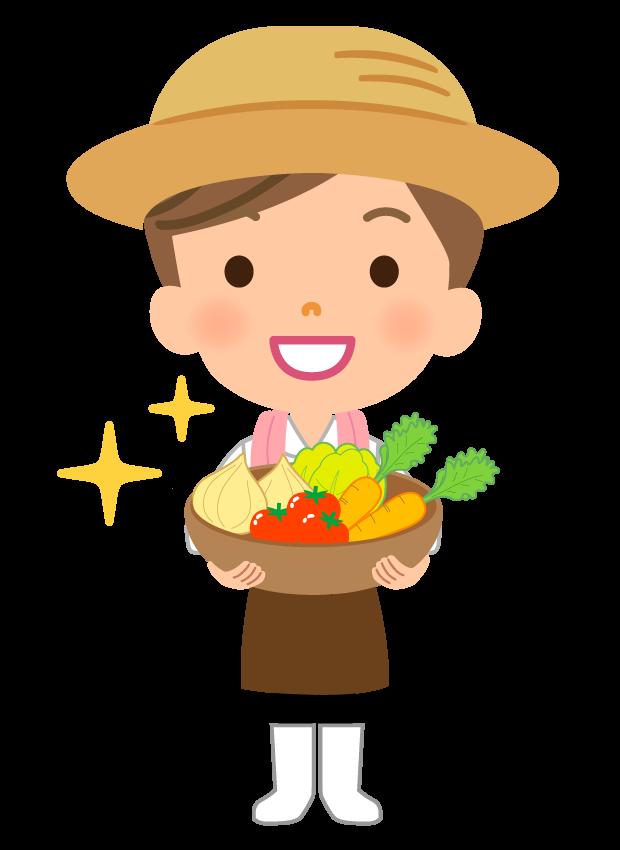 若い野菜農家(女性)さんのイラスト