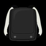 黒色のランドセルのイラスト