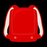 赤色のランドセルのイラスト
