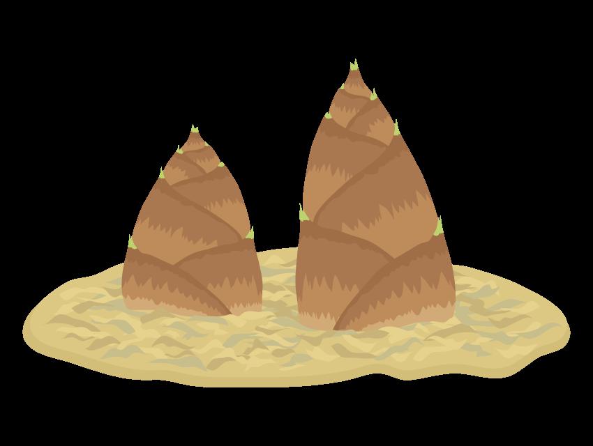 たけのこ(筍)のイラスト