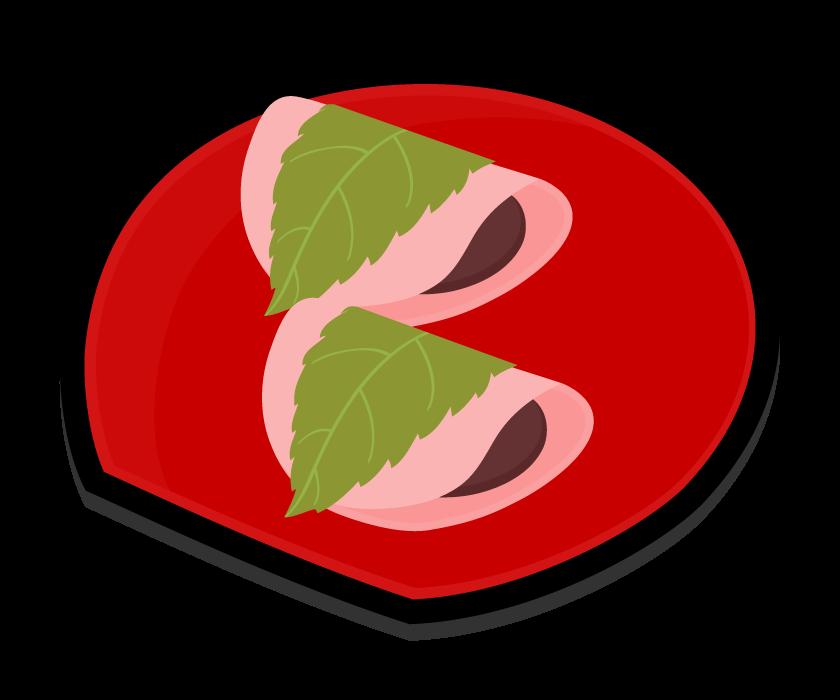 桜餅(関東風・長命寺)のイラスト