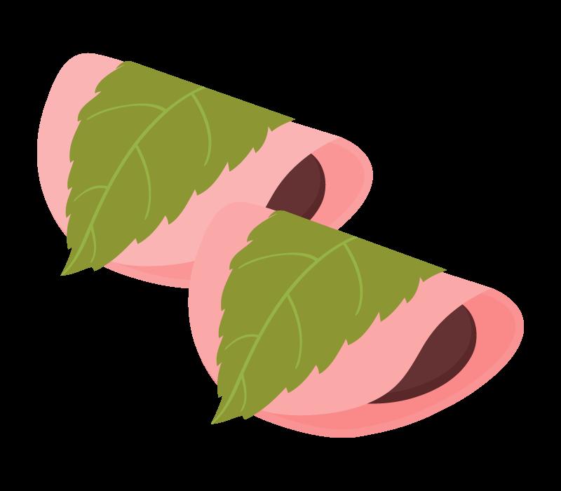 桜餅(関東風・長命寺)のイラスト02