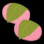 桜餅(関西風・道明寺)のイラスト02