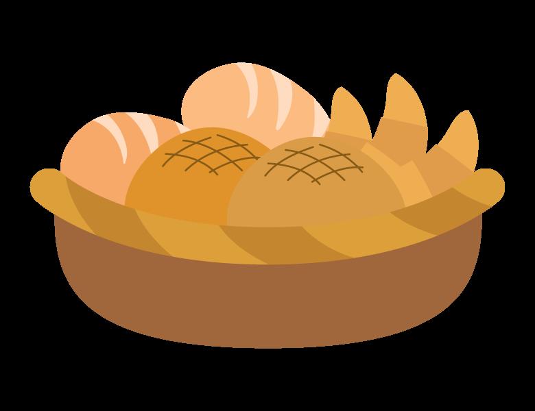かご盛りのパンのイラスト