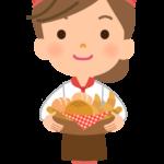 パン屋さんの店員のイラスト