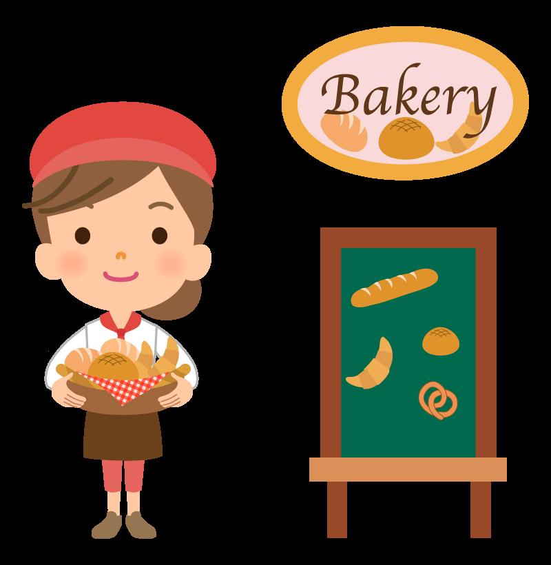 パン屋さんの店員のイラスト02