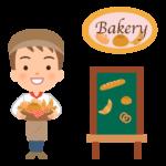 パン屋さんの店員(男性)のイラスト02