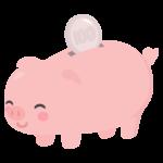 豚の貯金箱のイラスト