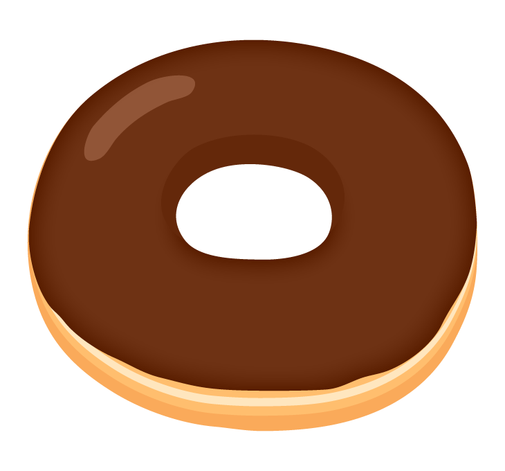 チョコドーナツのイラスト